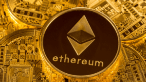 picture of virtual etherium coin
