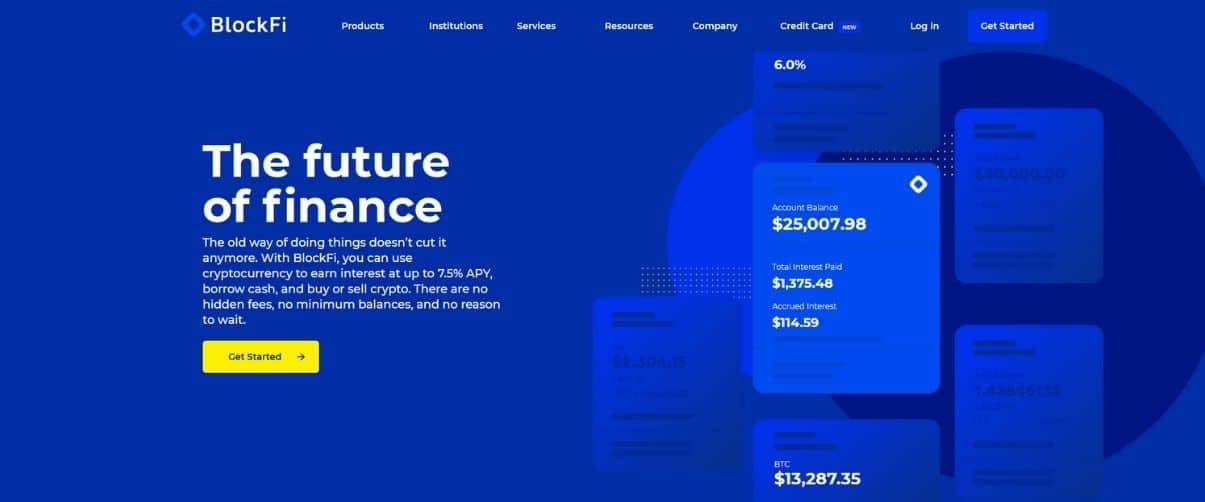 Blockfi Review Homepage